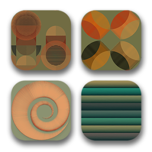 ColourLovers.com pattern icons, IOs Like shape