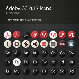 Adobe CC 2017 Icon Pack Preview