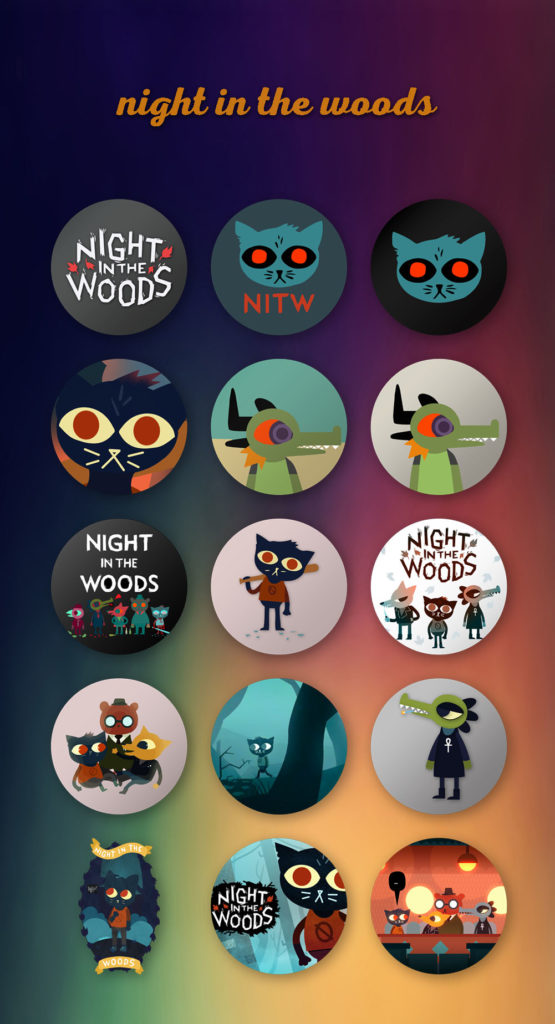 Night in The Woods Icons - Preview