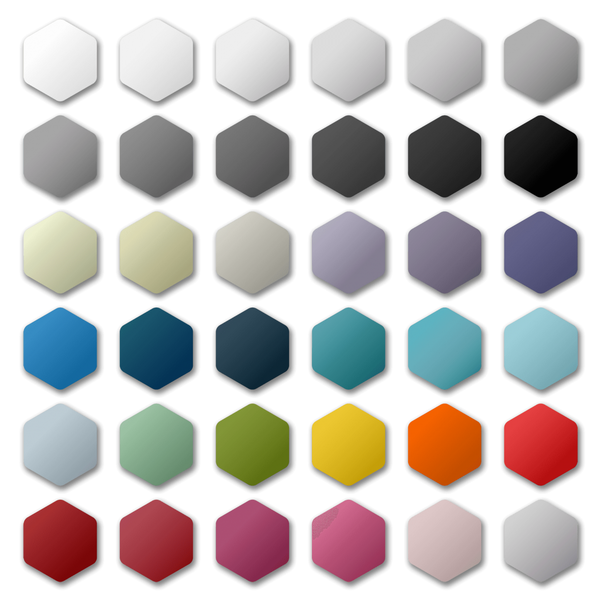 Hexagon Icon Pack Color Palette Series Preview.