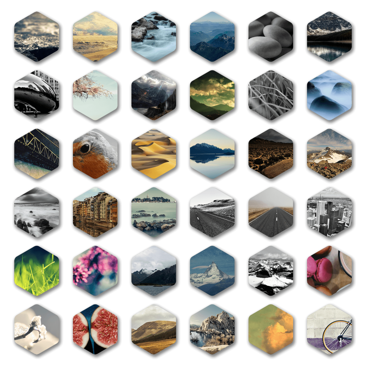 Hexagon Icon Pack from Photos -  Preview